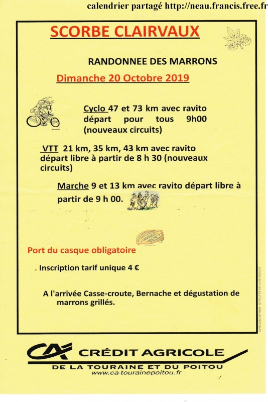 SCORBÉ CLAIRVAUX (86) - dimanche 20 octobre 2019 Tract_61667