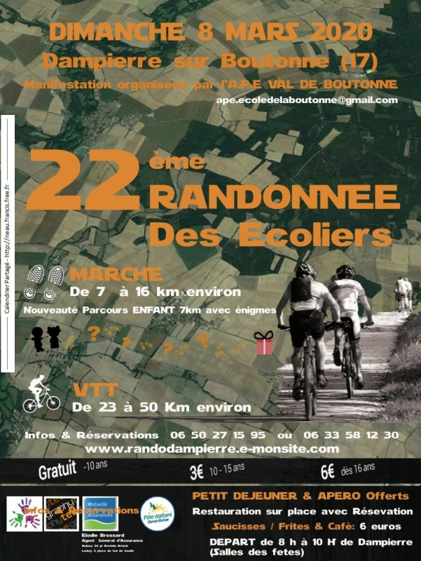 DAMPIERRE SUR BOUTONNE (17) - Dimanche 8 mars 2020 Tract_65302