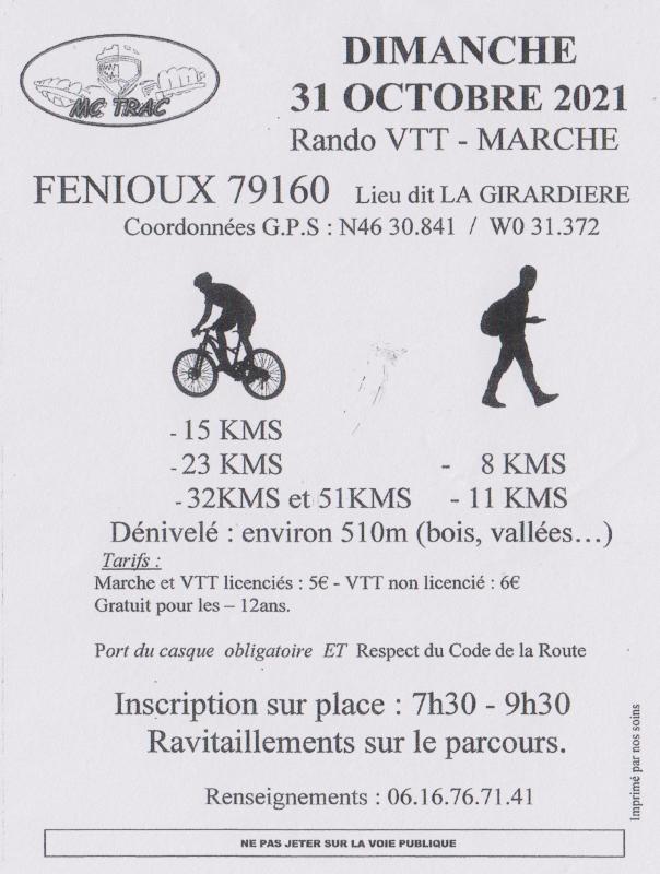 FENIOUX(79) - Dimanche 31 octobre 2021 Tract_69209